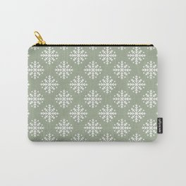 White Snowflakes 3 Carry-All Pouch
