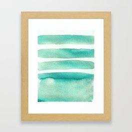 Tiffany Blue Minimalist Watercolor Framed Art Print