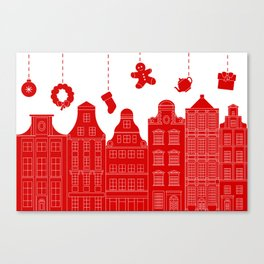 Very Merry Christmas Street Canvas Print