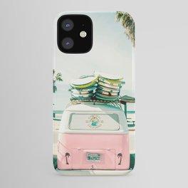 combi van surf art pink iPhone Case