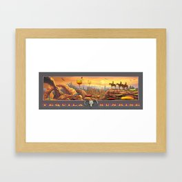 Tequila Sunrise Framed Art Print