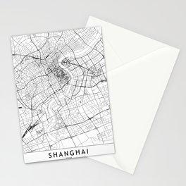 Shanghai White Map Stationery Cards