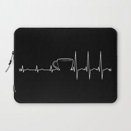 Coffee cardiac in black Laptop Sleeve