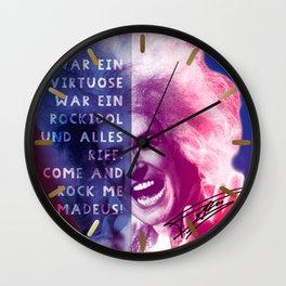 Rock Me Amadeus Wall Clock