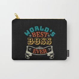 WORLDS BEST BOSS EVER Carry-All Pouch