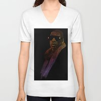 jay z V-neck T-shirts featuring Jay-Z Color by William