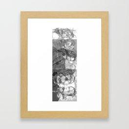 SOLVE et COAGULA.  LACE PORTRAITS. Framed Art Print
