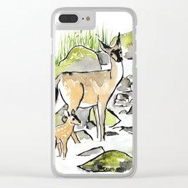 Deer in Creek Clear iPhone Case
