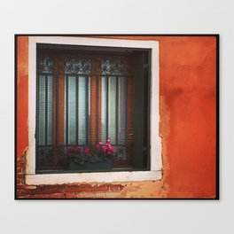 A Window in Italy Canvas Print