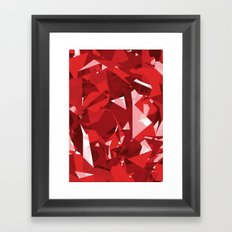 Abstract Red Framed Art Print