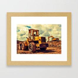 Bulldozer Framed Art Print