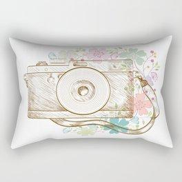 Camera retro flower Rectangular Pillow