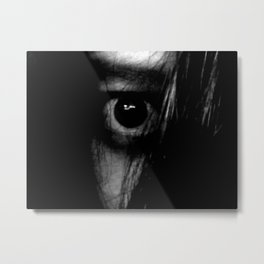 The Girl Behind the Curtain Metal Print