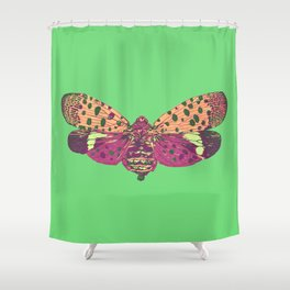 Spotted Lantern Fly Shower Curtain