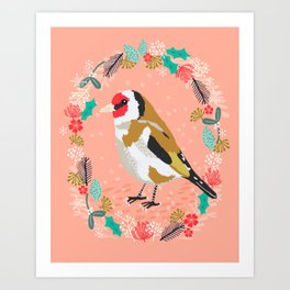European goldfinch by Andrea Lauren  Art Print
