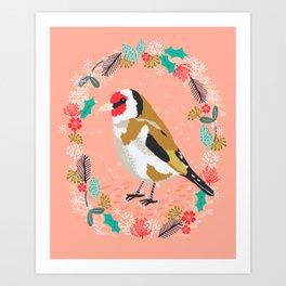 European goldfinch by Andrea Lauren  Art Print