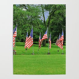 Flags Flying in Memoriam Poster
