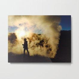 Sunrise Geyser Metal Print