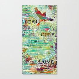 Heal, Cure, Love Canvas Print