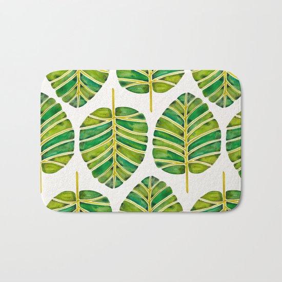 Elephant Ear Alocasia – Green Palette Bath Mat