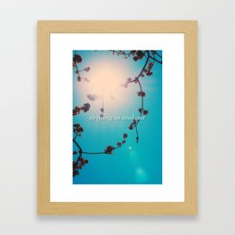 DRIFTING IN AND OUT Framed Art Print