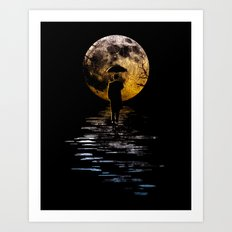 Rainman at Moonrise Art Print
