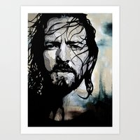 eddie vedder Art Prints featuring Eddie  by lyneth Morgan