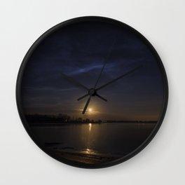 Moonrise Over Keystone Lake OKlahoma Wall Clock