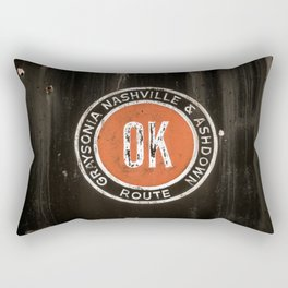 Graysonia Nashville & Ashdown Railroad OK Route Okay Arkansas Cement Railway Steam Train Emblem Rectangular Pillow