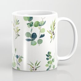Eucalyptus and Olive Pattern 2  Coffee Mug