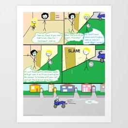 Emoceans Ais' Terrible Art comic Art Print