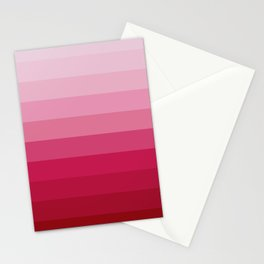 WINE RED GRADIENT Stationery Cards