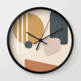 Minimal Abstract Shapes No.58 Wall Clock