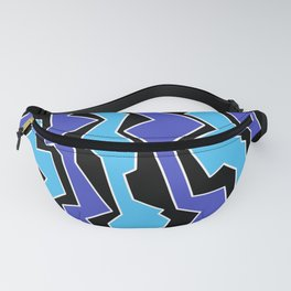 Vertical Blues Polynoise Fanny Pack
