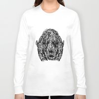 anxiety Long Sleeve T-shirts featuring Anxiety by Ryan Bussard