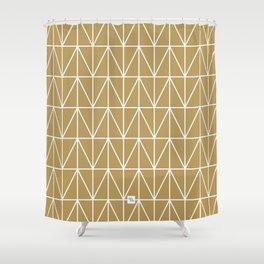 Gold Chevron Shower Curtains