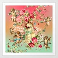 romantic Art Prints featuring romantic by mark ashkenazi