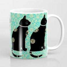 Black Cat Wallpaper Mug