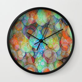Autumn Rain 2 Wall Clock