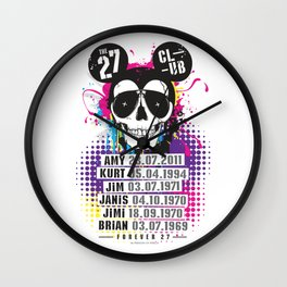 The 27 Club - Mouse Skull Wall Clock