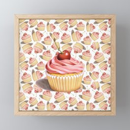 Pink Cupcakes Framed Mini Art Print