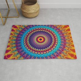 Fire and Ice Mandala Rug