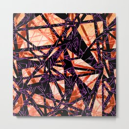 Fragment Gems (colourway orange and pink) Metal Print