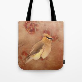 Waxwing Buffet Tote Bag