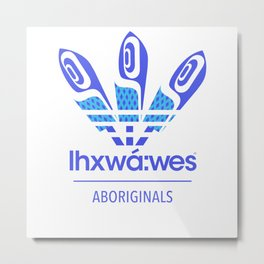 Aboriginal- Blue Eyed Grass Metal Print