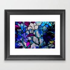 Painted Glass Framed Art Print