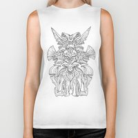kaiju Biker Tanks featuring Kaiju Emblem by ECTmonster