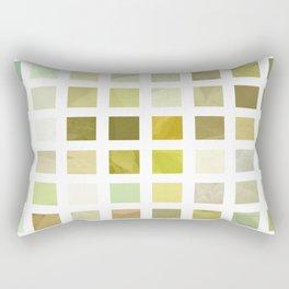Pale Yellow Poinsettia 1 Abstract Rectangles 2 Rectangular Pillow