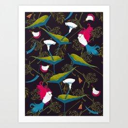 Boho garden Art Print