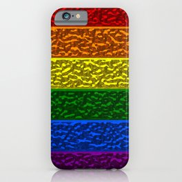 Gay Pride Chrome Flag iPhone Case